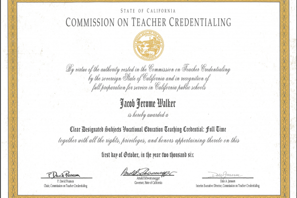 "California ""Alternative"" Teacher Credentialing Consulting"